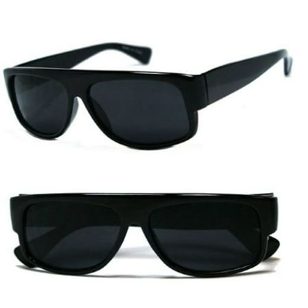 BLACK OG Mad Dogger Locs Sunglasses Super Dark Lens motorcycle Shades mens