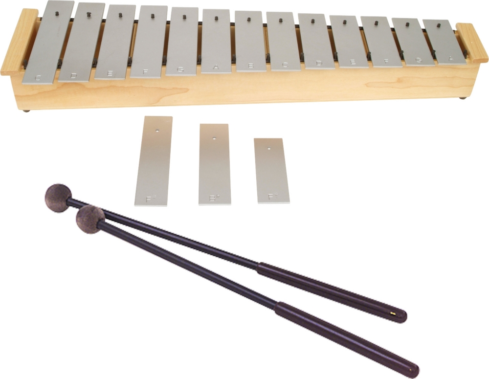 Lyons Wide Bar Diatonic Alto Glockenspiel with Mallets by Lyons