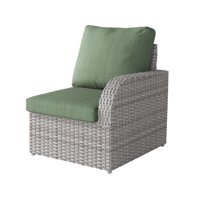 Blended Grey Weave Weather Resistant Right Arm Patio Chair