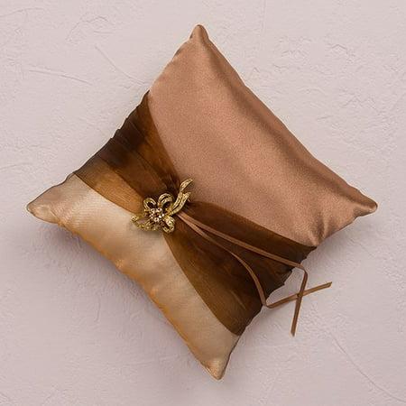 Bronze Pillow - Weddingstar 6134 Bronze Elegance Square Ring Pillow