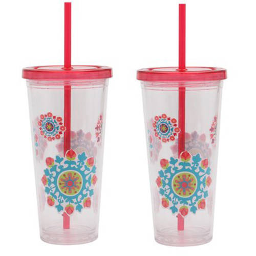 Mainstays 24 oz Double Wall Chiller, 2-Pack