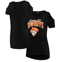 Oklahoma State Cowboys Women's Gameday Cold Shoulder Flowy Top - Black