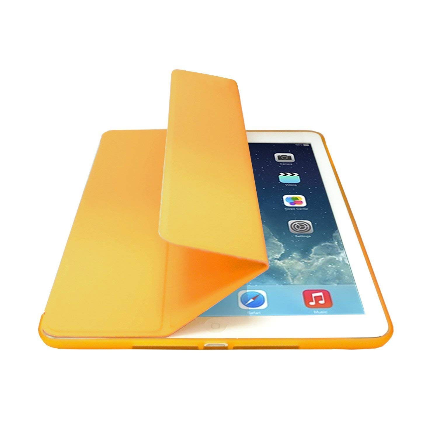 MIIU by Digiparts Ultra Thin Magnetic Smart Cover & Clear Back Case for Apple iPad Air(5th Gen), Yellow - image 1 of 5