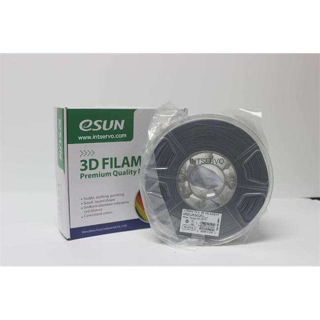 eSun PLA175H1 PLA Filament - Grey, 1.75 mm. - 1 kg. Per Roll