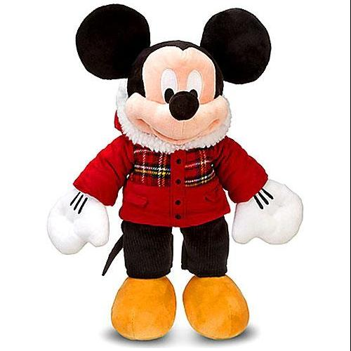 """Disney Mickey Mouse Holiday Plaid Mickey Mouse Exclusive 18"""" Plush by"""