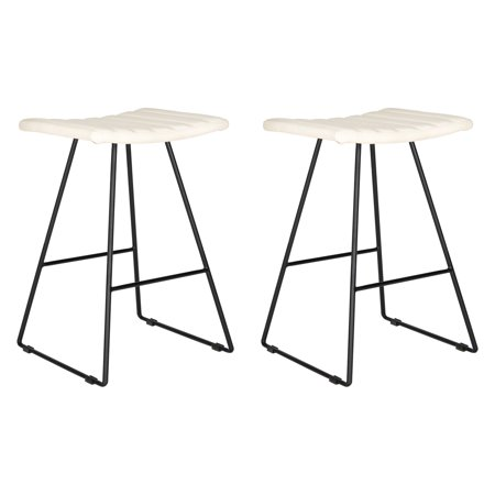 Cool Safavieh Akito Bicast Leather Barstool Multiple Colors Cjindustries Chair Design For Home Cjindustriesco