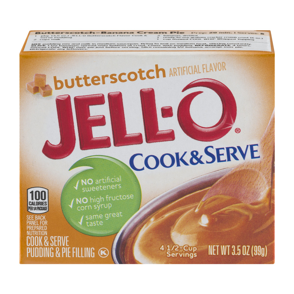Jell-O Cook & Serve Pudding & Pie Filling Butterscotch, 3.5 OZ