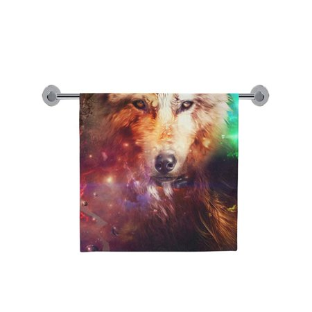 POP Wolf Bath Towels Beach Bathroom Body Shower Towel 30x56 inch Home Outdoor Travel Use - image 3 of 4