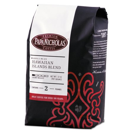 PapaNicholas Coffee Premium Coffee, Whole Bean, Hawaiian Islands Blend -PCO32003
