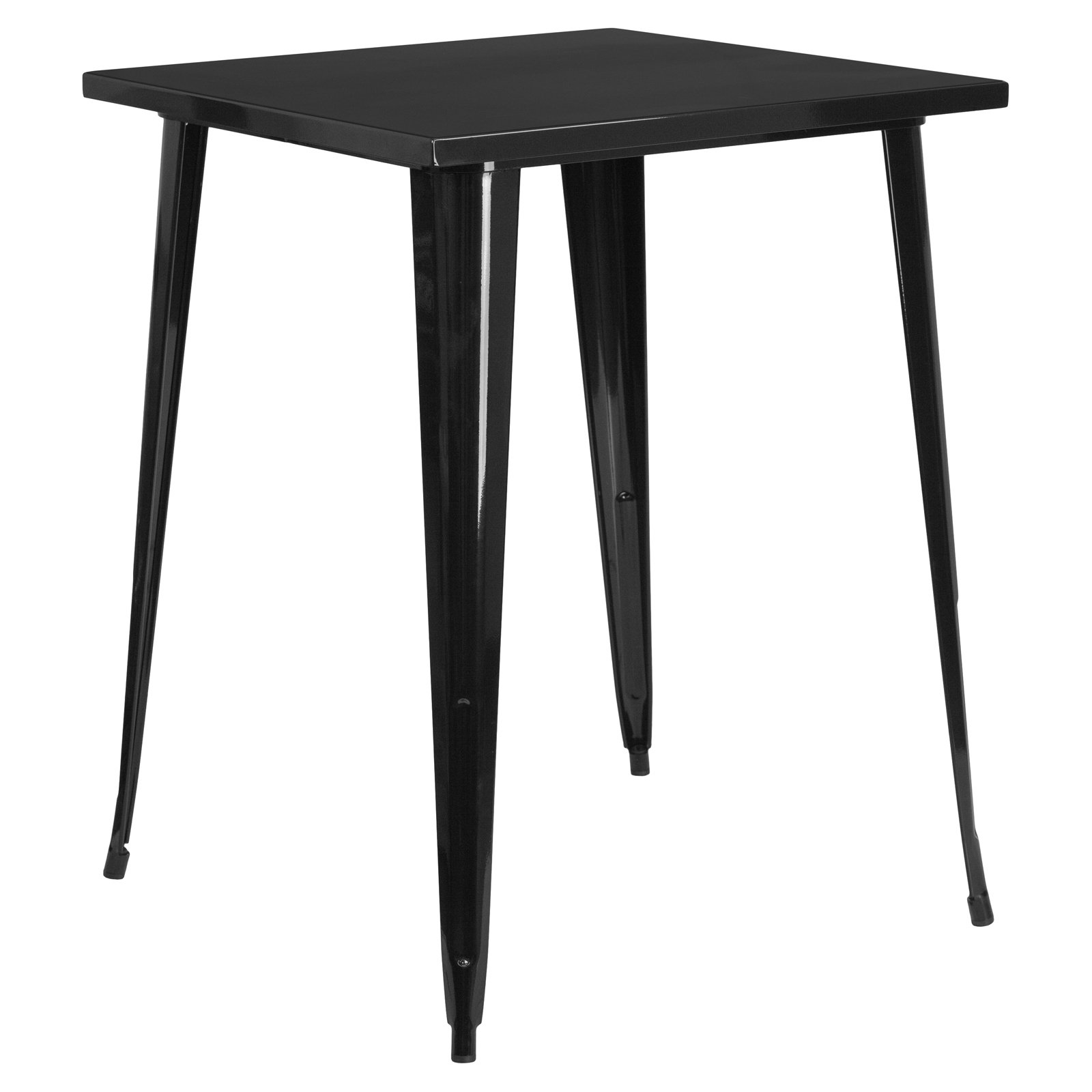 """Flash Furniture 31.5"""" Square Bar Height Metal Indoor-Outdoor Table, Multiple Colors"""