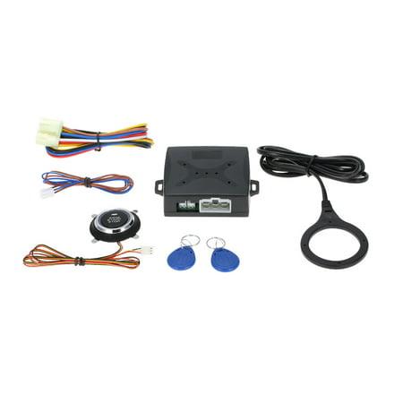 Universal Car Alarm System Driving Security Push Button Engine Start RFID Lock Ignition Starter Keyless Entry