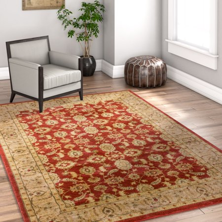 Well Woven Bryce Ziegler Terracotta Red Isfahan Floral Persian Area Rug 8 x 10 (7'10