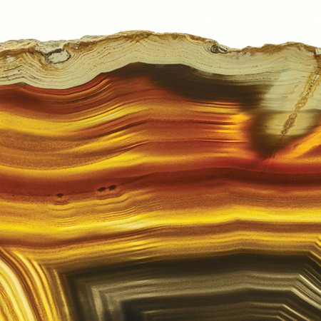 Empire Art Direct 'Golden Brown Agate' Graphic Art Print on Glass