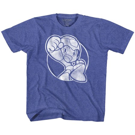 Mega Man Rockman Capcom Video Game Series Fist Pump Vintage Royal Toddler TShirt (Pump Video)