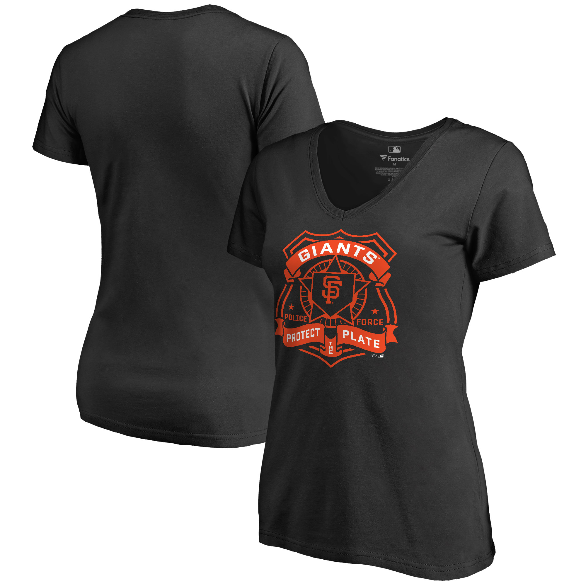 San Francisco Giants Women's Police Badge T-Shirt - Black