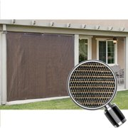 Alion Home Mocha Brown Sun Shade Privacy Panel With Grommets On 2 Sides For Patio