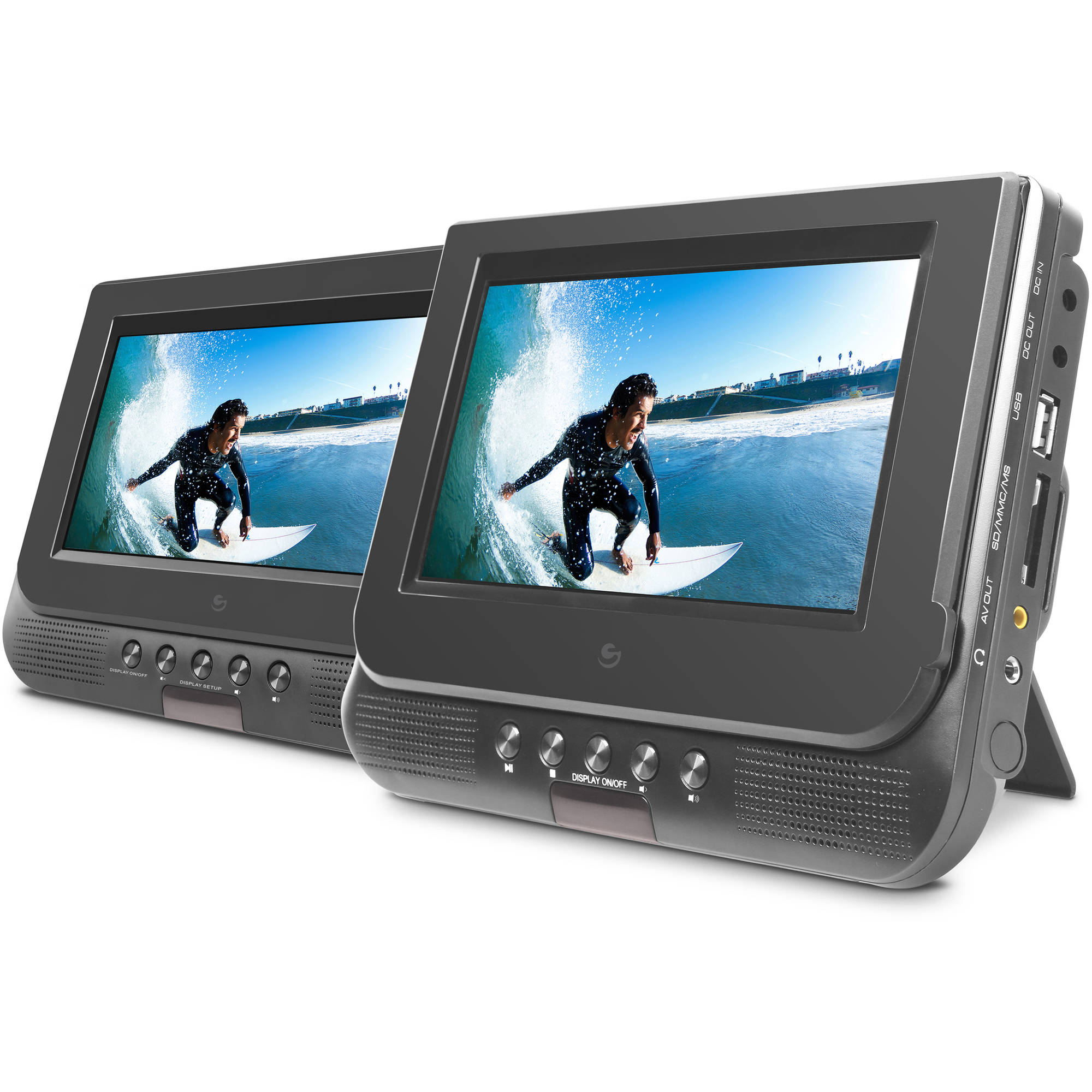 Ematic 7 Dual Screen Portable DVD Player by Ematic