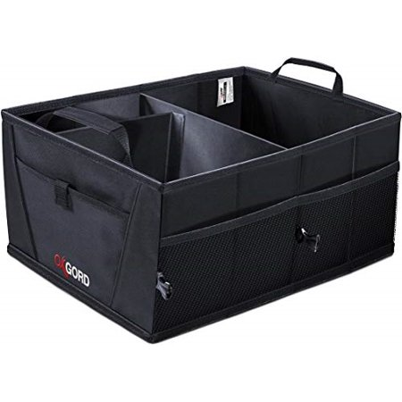 trunk organizer for car suv truck van storage organizers best for auto accessories in bed interior, collapsible vehicle caddy large box tote compartment heavy duty for grocery, tools or