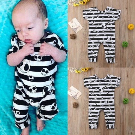 Halloween Kids Infant Baby Girl Boy Grimace Print Romper Jumpsuit Outfit Clothes