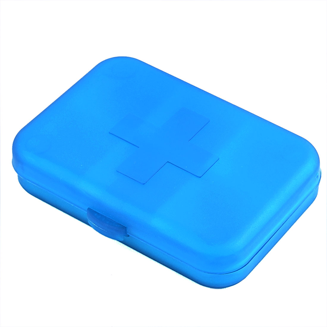 Travel Outdoor Medicine Pill 6 Compartments Plastic Storage Box Holder Blue