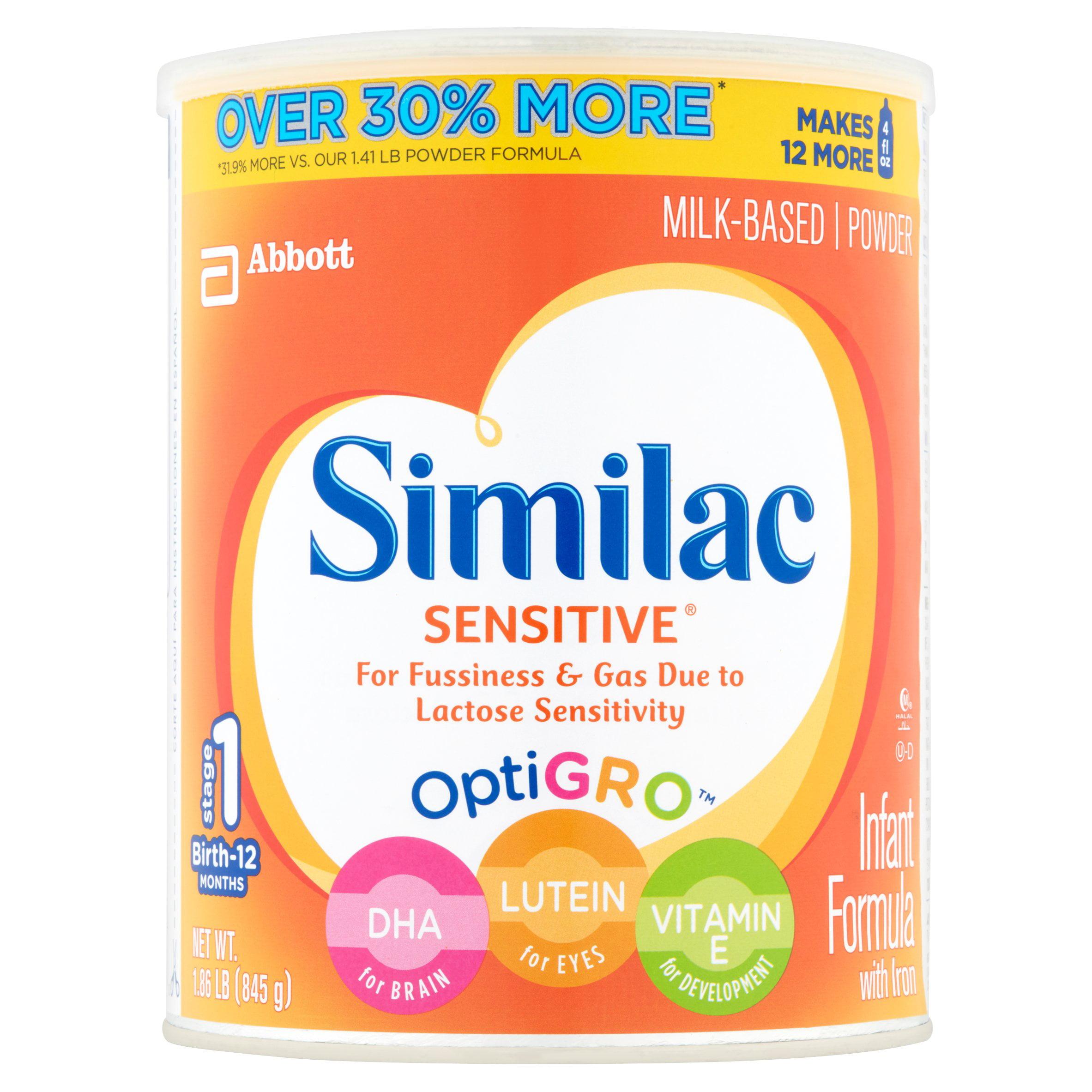 Similac Sensitive Infant Formula with Iron, Powder, 1.86 lb