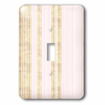 3dRose Chic Pink and Gold Thin Stripes Pattern - Single Toggle -