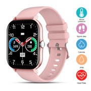 Smart Watch, EEEKit Health and Fitness Tracker Bluetooth Smartwatch with Heart Rate Blood Pressure Monitor Sleep Tracker Waterproof Smart Watch for iOS Android, Pink