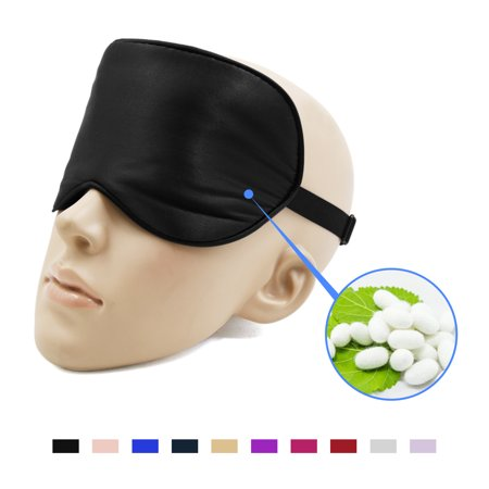 Natural Silk Travel Eye Mask Eyeshade Cover Sleeping Mask Blindfold ()