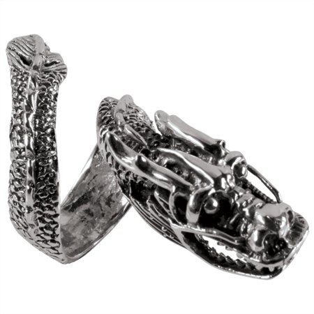 Wrap Around Dragon - Large Wrap Around Dragon Silver Ring