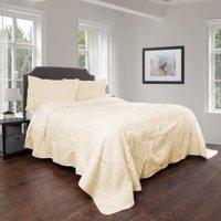 Lavish Home Hypoallergenic Oversized Curved Ruffle Design 2-3 Piece Quilt Bedding Set