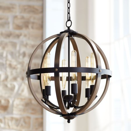 Modular Dark Bronze Chandelier - Franklin Iron Works Kimpton 6-Light 21