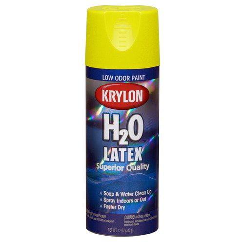 Krylon 12 Oz Yellow Sea H2O Latex Spray Paint 2602  (Set of 6)