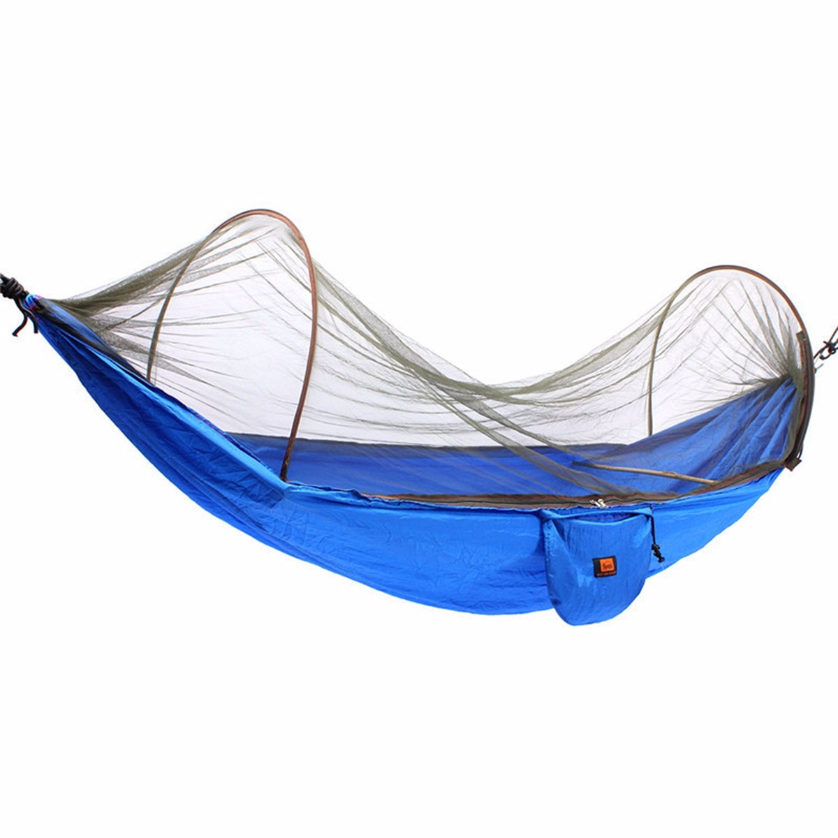 Jeteven Portable Strength Camping Hammock Hanging Bed With Mosquito Net Black Blue
