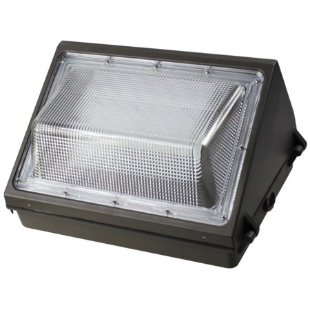 (45W LED Wall Pack 5000K Cool White Weatherproof Light Fixture For Outdoor, Area and Security Lighting)