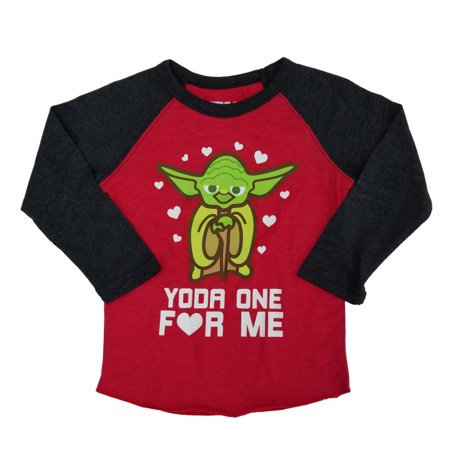 Star Wars Infant & Toddler Boys Yoda One For Me Valentines Day Long Sleeve Shirt