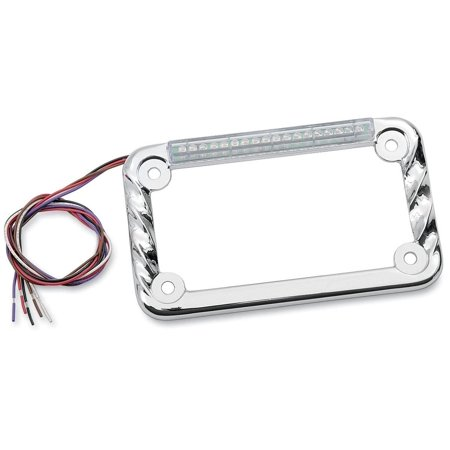 Signal Dynamics 02602 LED License Plate Frame with Turn Signals - Twisted Chrome with Turn Signals/Clear Lens
