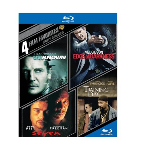 4 Film Favorites: Gritty Thrillers - Seven / Edge Of Darkness / Training Day / Unknown (Blu-ray)