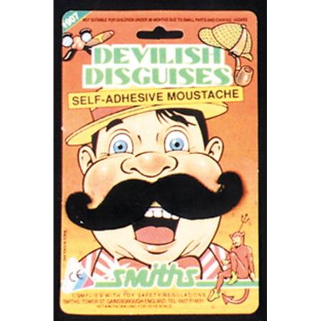 Black Handle Bar Mustache Set Adult Halloween Accessory - Beta Bar Halloween