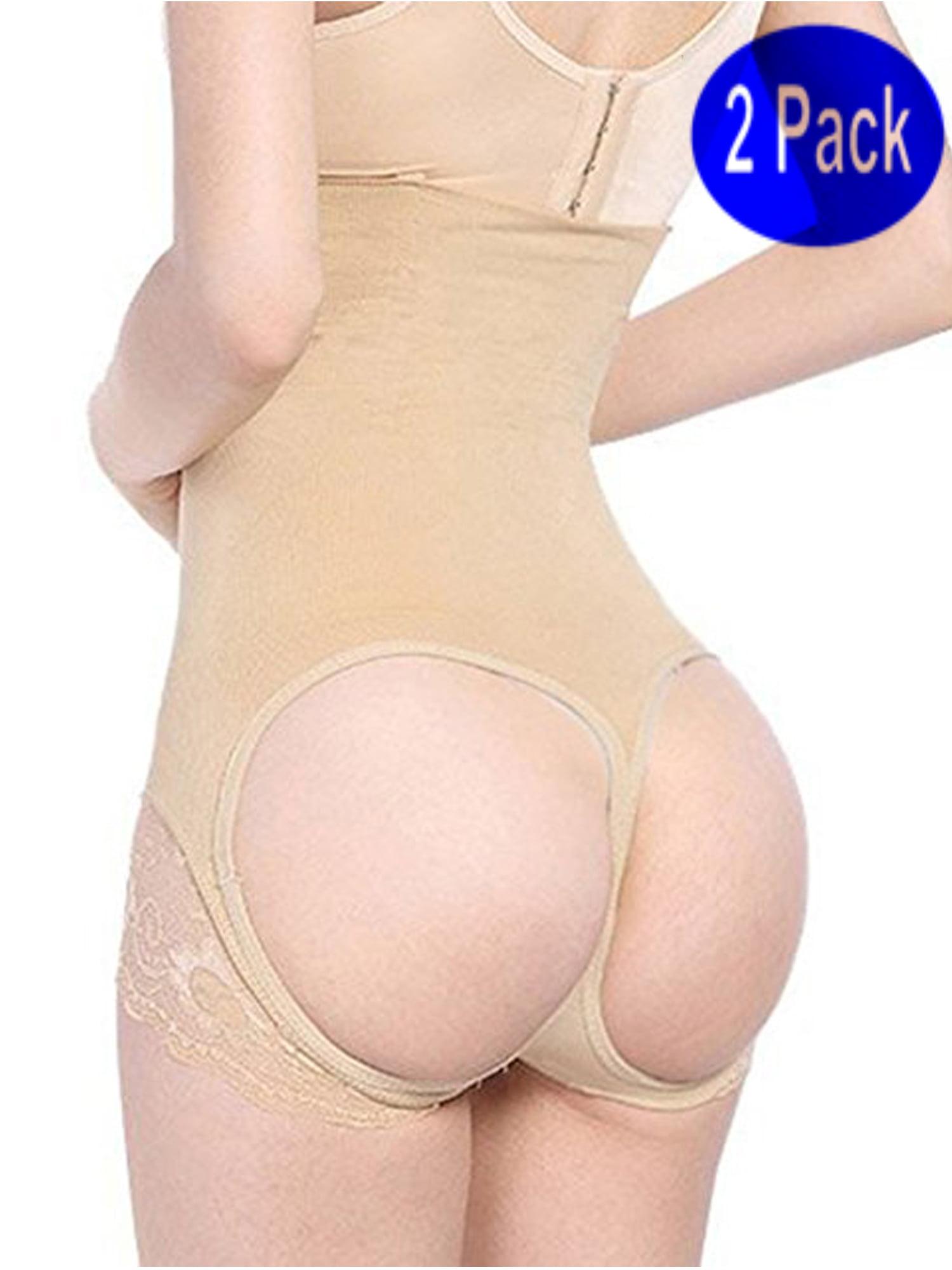 0df55edb808 Lelinta - LELINTA Women s High Waist Butt Lifter Boy Shorts Shapewear Butt  Enhancer Control Panties 2 Pack - Walmart.com