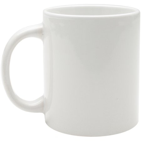 Coffee Mug - White (Plastic Coffee Mugs)