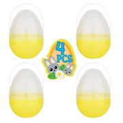 Playoly 4 Jumbo Yellow 10Inch Easter Egg with Handle - The Perfect Size for Holding Toys, Candy Bars, and Stuffed Animals - Easy to Open, Tough to Break - Great Party Favors and Easter Basket Stuffer