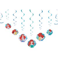 Disney The Little Mermaid Hanging Party Decorations, 12pc