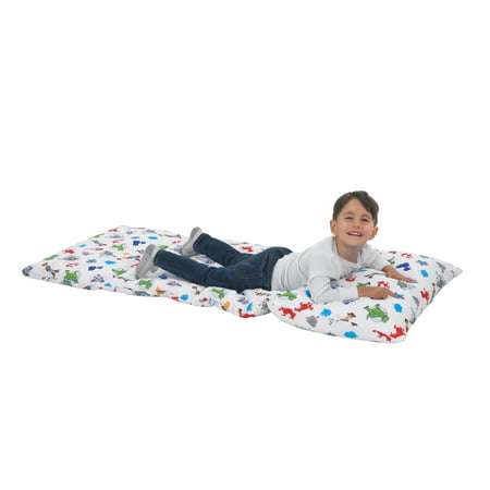 Disney Toy Story 4 - Blue, Green, Red and White Deluxe Easy Fold Toddler Nap Mat ()