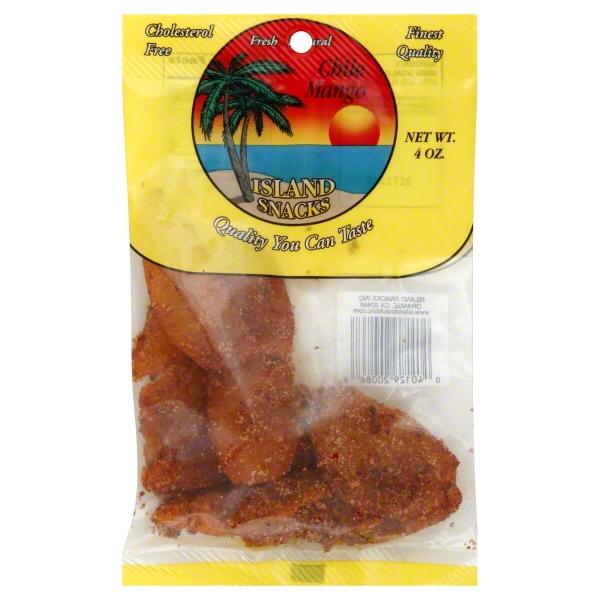 Island Snacks Cholesterol-Free Chile Mango, 4 Oz.