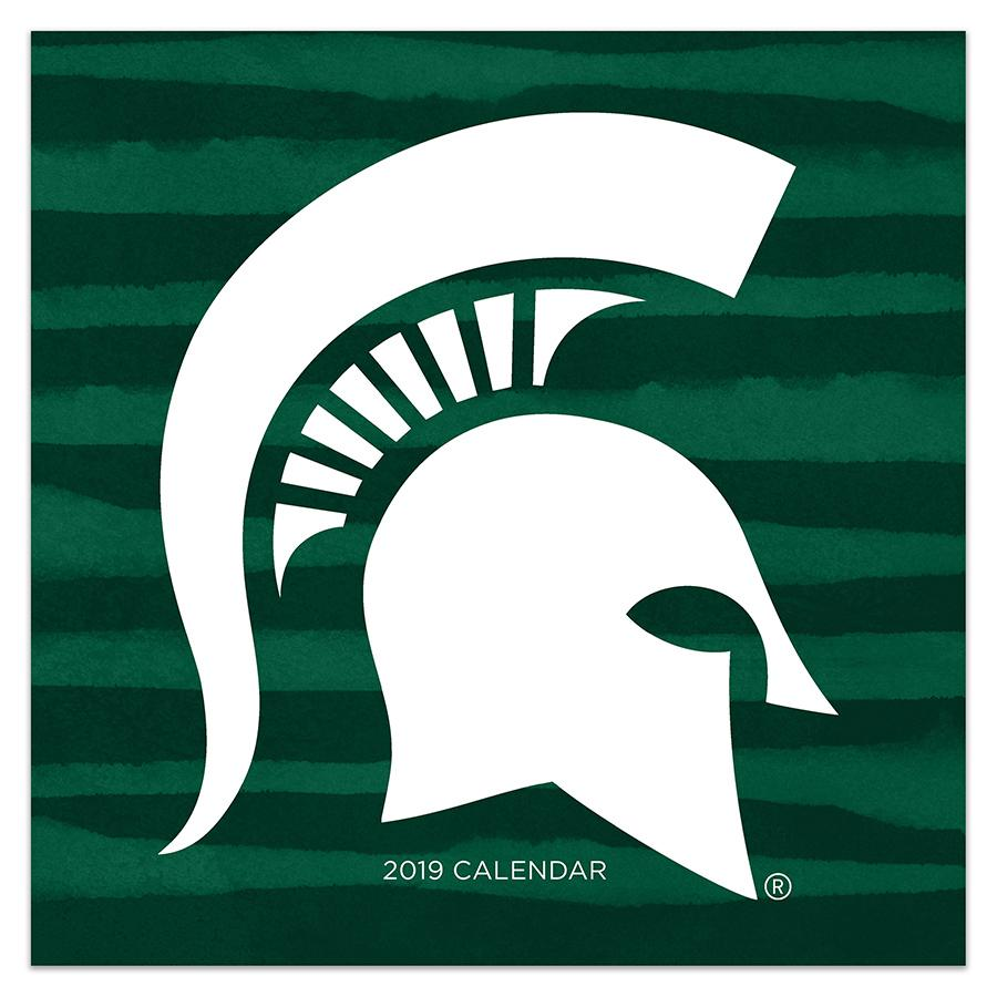 "2019 Michigan State University 12"" x 12"" January 2019-December 2019 Wall Calendar"