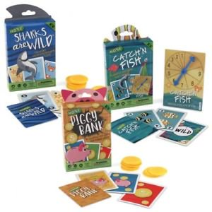 HOYLE KIDS CARD GAMES 3 PACK, SHARKS ARE WILD, CATCH'N FISH AND PIGGY BANK (Hoyle Card Games Cd)