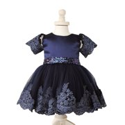 Toddler Infant Baby Kids Princess Girl Birthday Wedding Pageant Party Princess Lace Tutu Flower Dress