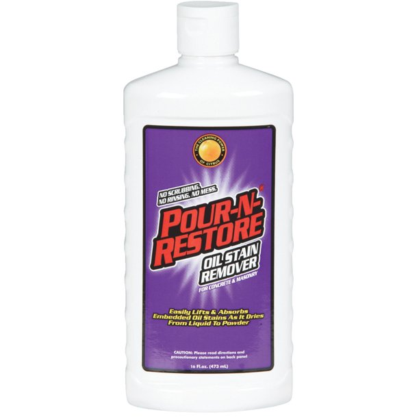 Pour N Re 16 Oz Concrete And Masonry Oil Stain Remover