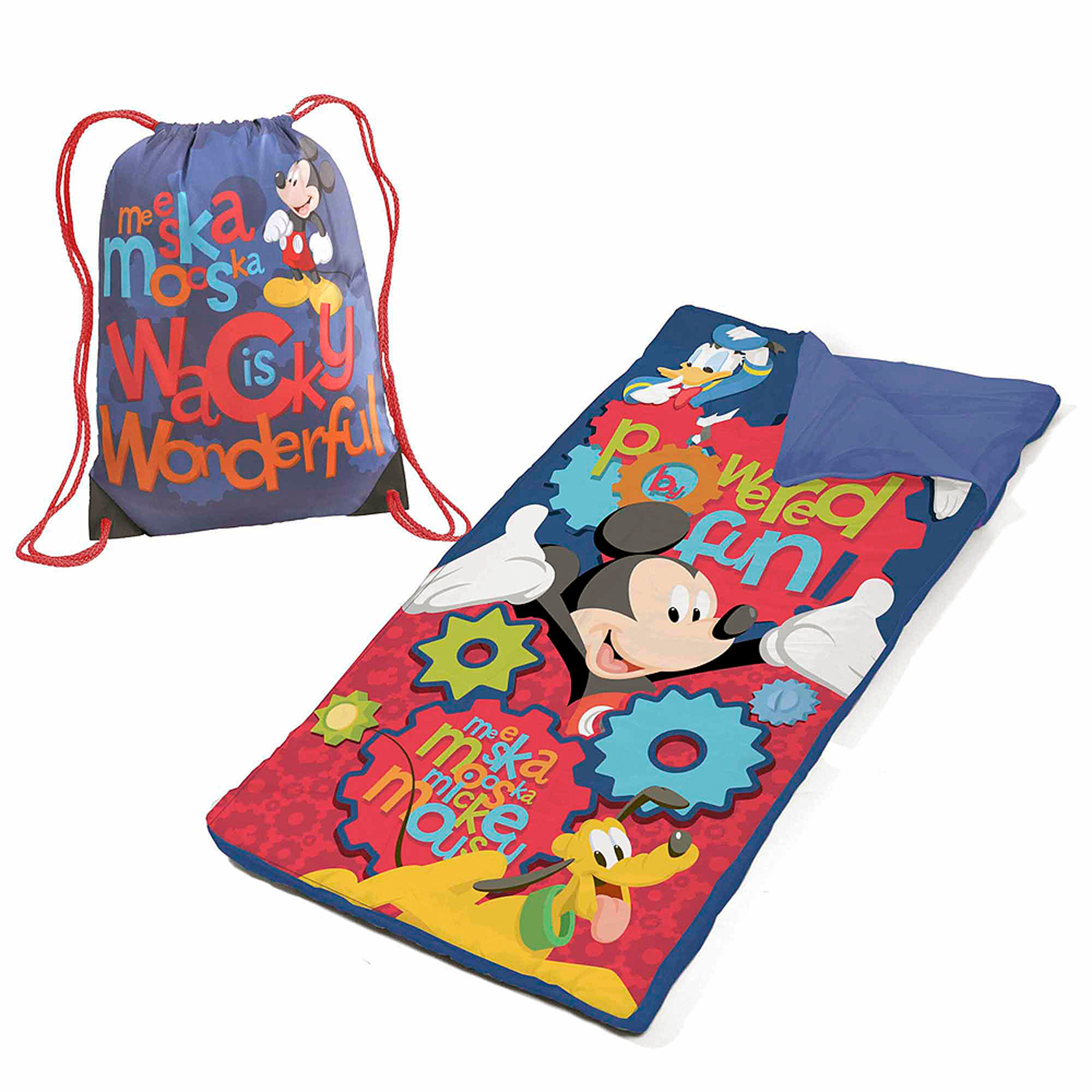 Disney Mickey Mouse Slumber Set/Nap Mat with BONUS Sling Bag