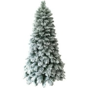 holiday time artificial christmas trees pre lit 75 flocked artificial tree clear lights - Christmas Tree Pre Lit